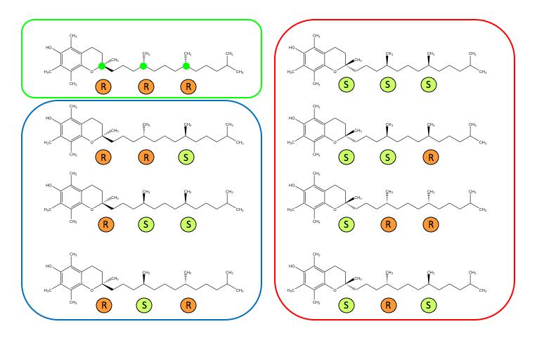 Vitamin E stereoisomers